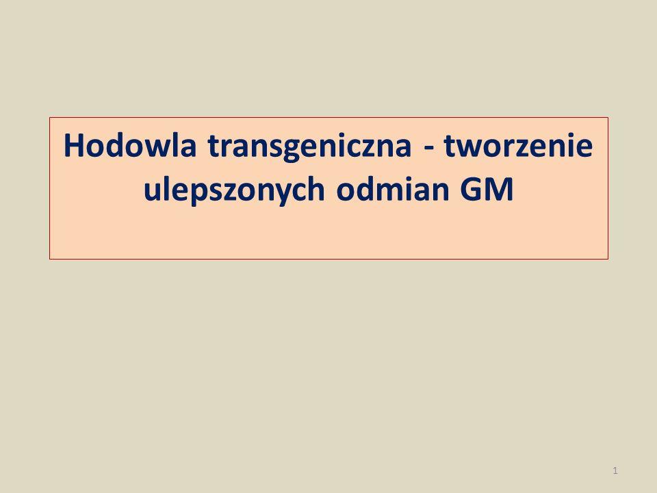 Hodowla transgeniczna - tworzenie ulepszonych odmian GM 1
