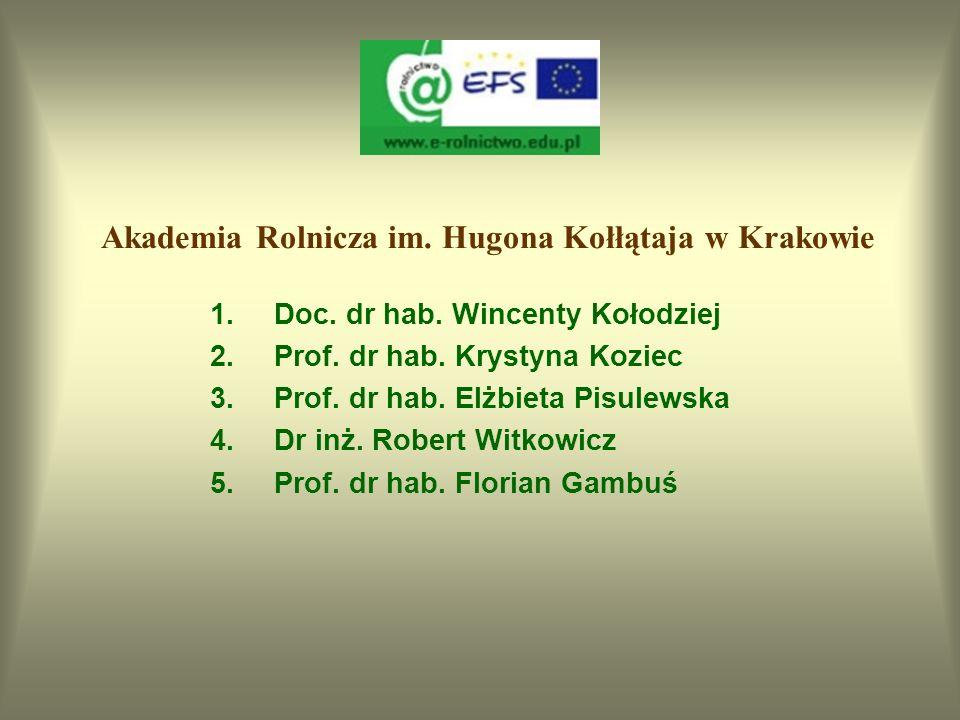 Program i materiały dydaktyczne opracowało 63 pracowników naukowo-dydaktycznych z wszystkich uczelni rolniczych realizujących projekt 5 osób z Akademi