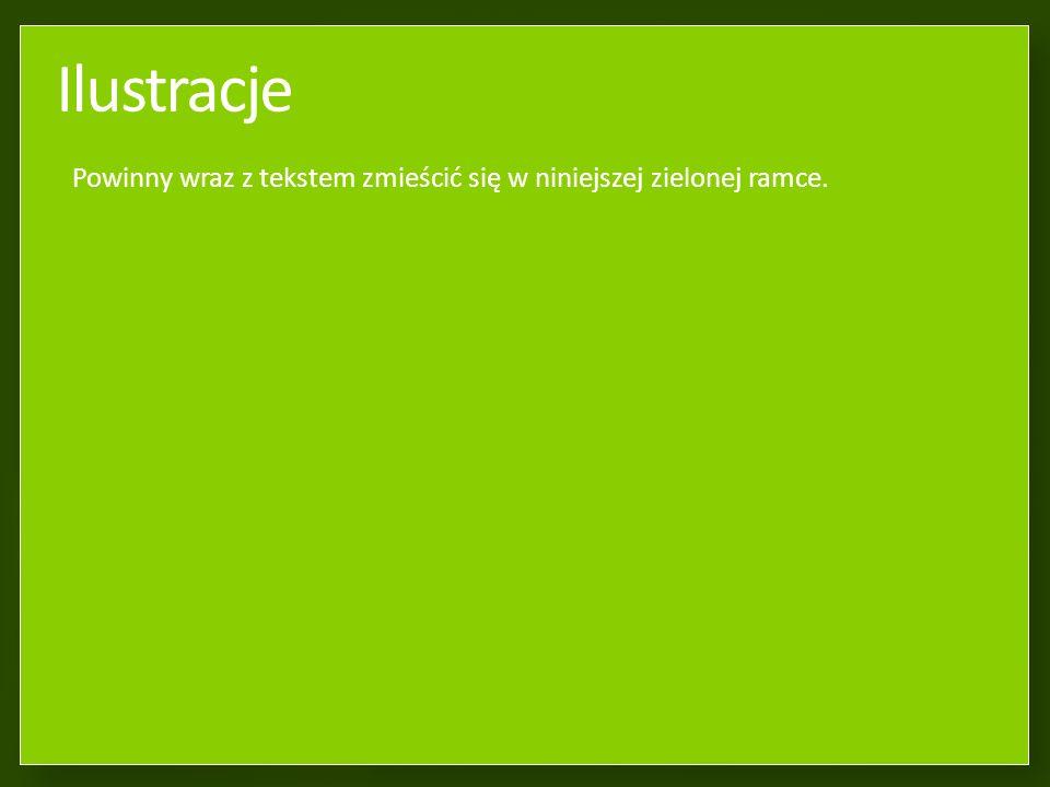 Formatowanie tekstu na slajdzie Tekst powinien zmieścić się w niniejszej zielonej ramce.