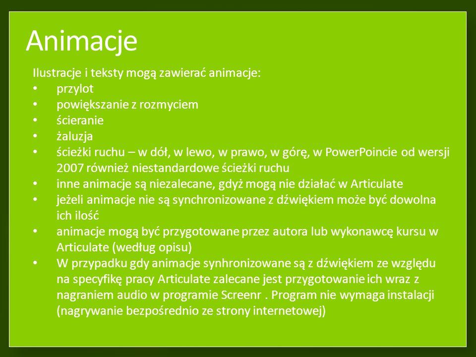 Ilustracje Powinny wraz z tekstem zmieścić się w niniejszej zielonej ramce.