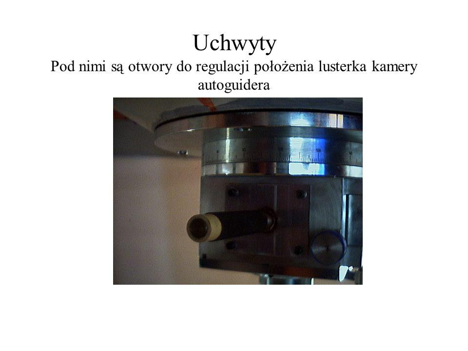Uchwyty Pod nimi są otwory do regulacji położenia lusterka kamery autoguidera