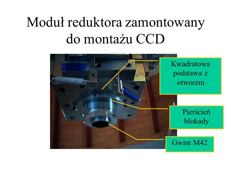 Moduł reduktora zamontowany do montażu CCD Gwint M42 Pierścień blokady Kwadratowa podstawa z otworem