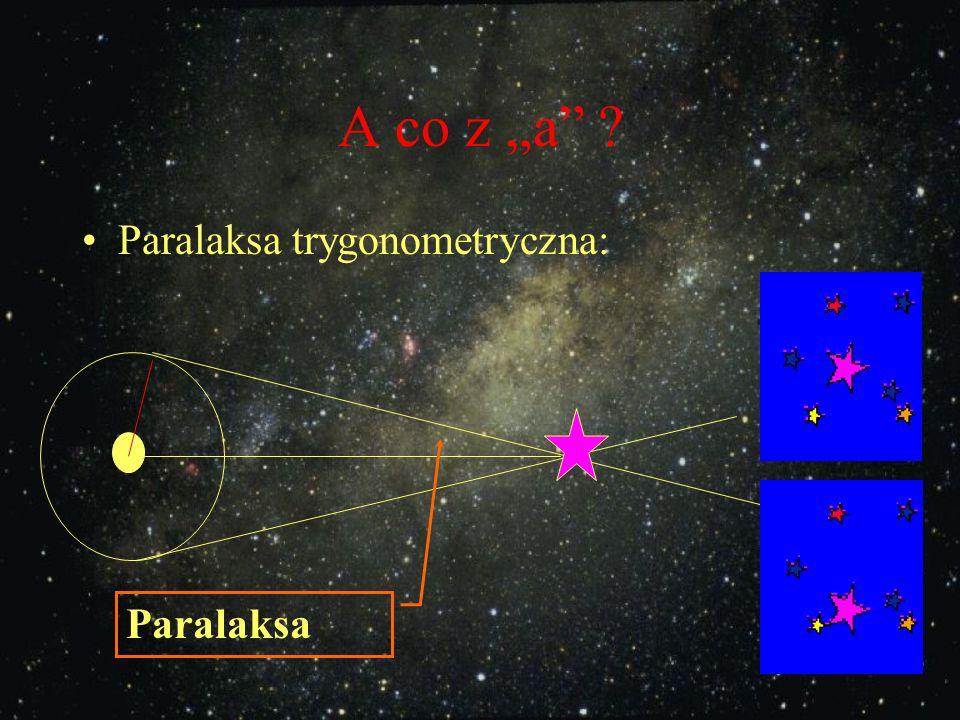Pomiar odległości w kosmosie A skąd wziąć a i b ? :
