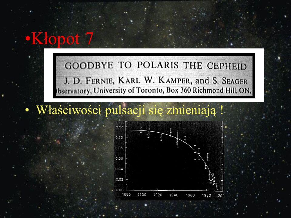 Kłopot 6 Gwiazda Polarna pulsuje niejednostajnie! (jest złym zegarem) czas Odchyłka