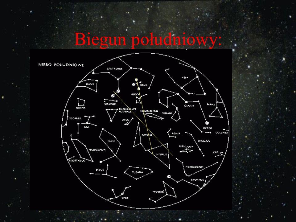 Na półkuli południowej nie ma gwiazdy biegunowej S N