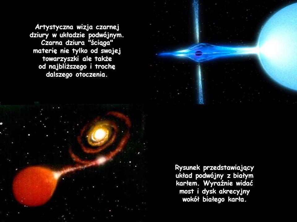 Artystyczna wizja czarnej dziury w układzie podwójnym. Czarna dziura