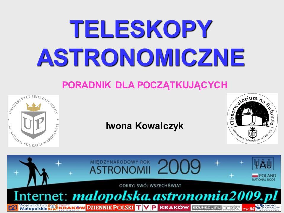 62 Teleskop Maksutova-Cassegraina MENISK (SOCZEWKA WKLĘSŁO-WYPUKŁA POZWALAJĄCA SKORYGOWAĆ ABERRACJĘ SFERYCZNĄ) CZĘŚĆ MENISKU POKRYTA ODBIJAJĄCĄ WARSTWĄ ALIMINIUM WKLĘSŁE ZWIERCIADŁO SFERYCZNE PUNKT, W KTÓRYM OGNISKUJĄ SIĘ PROMIENIE ŚWIETLNE