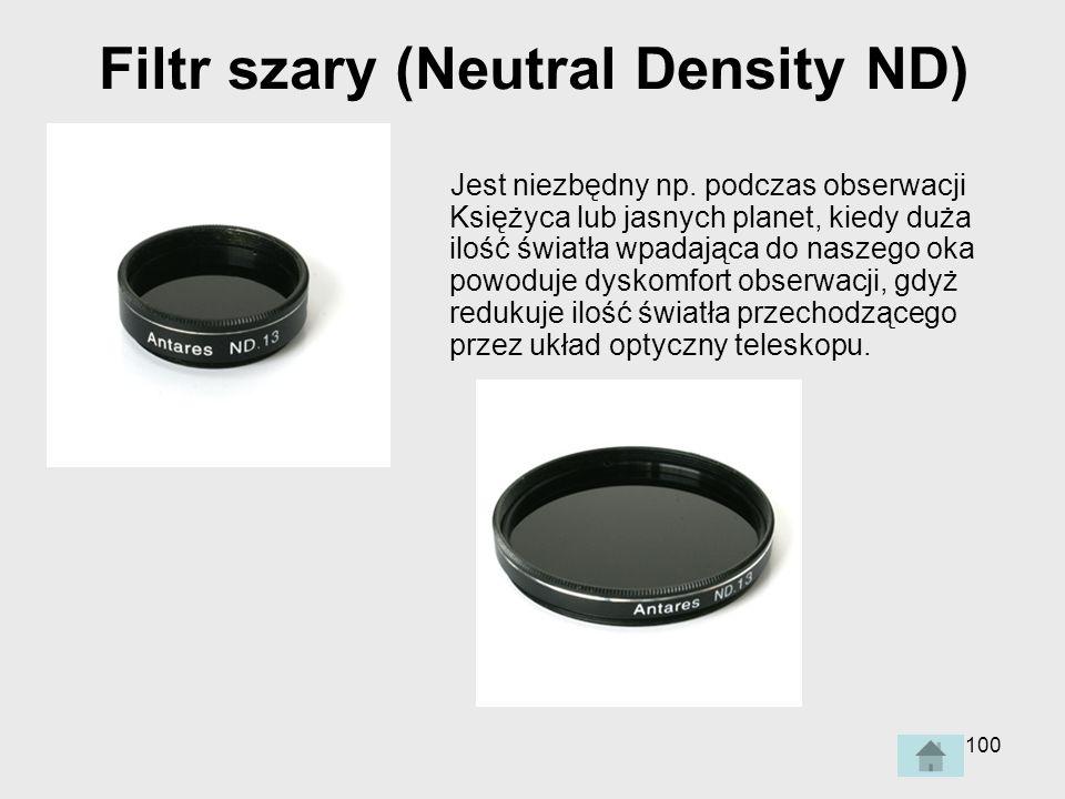 100 Filtr szary (Neutral Density ND) Jest niezbędny np.
