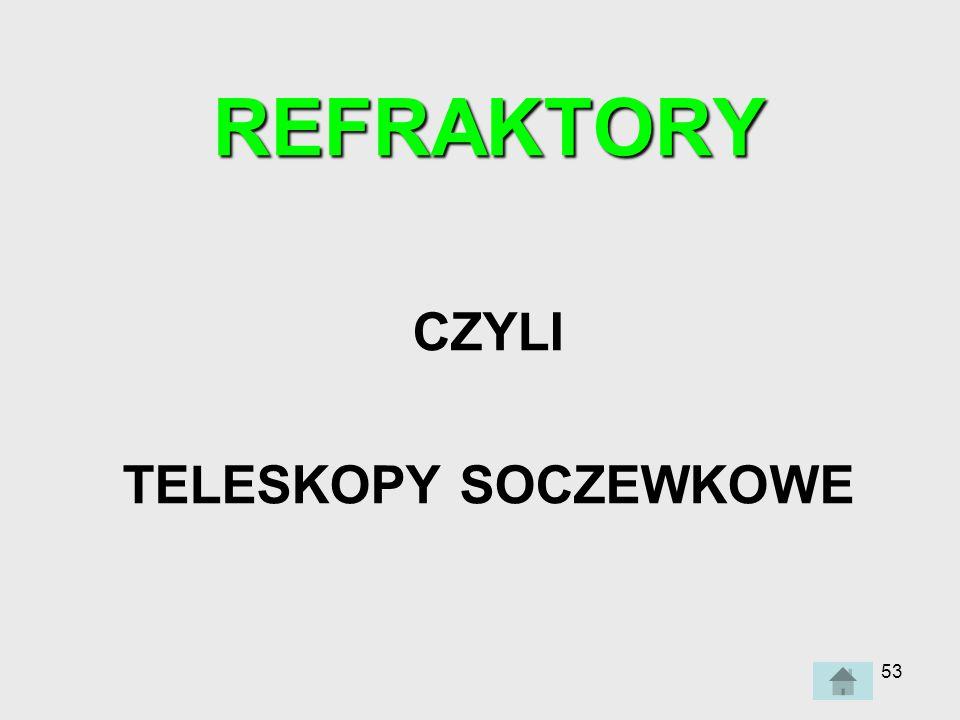 53 REFRAKTORY CZYLI TELESKOPY SOCZEWKOWE
