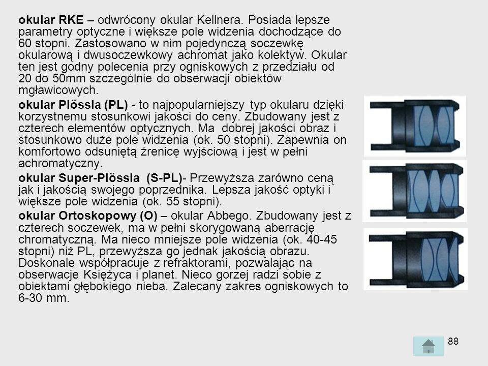 88 okular RKE – odwrócony okular Kellnera.