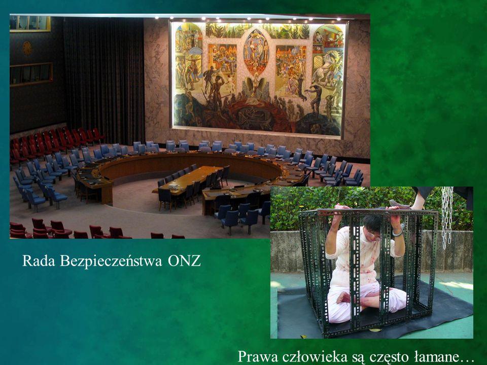 Rada Bezpieczeństwa ONZ Prawa człowieka są często łamane…