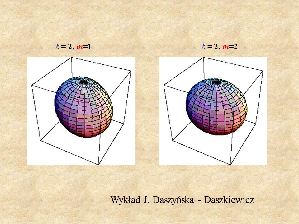 = 2, m=1 = 2, m=2 Wykład J. Daszyńska - Daszkiewicz