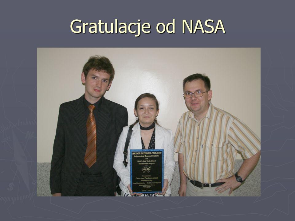 Gratulacje od NASA