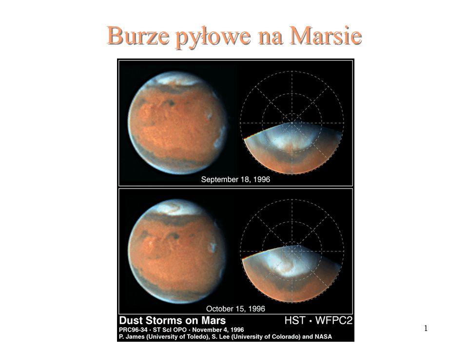 1 Burze pyłowe na Marsie