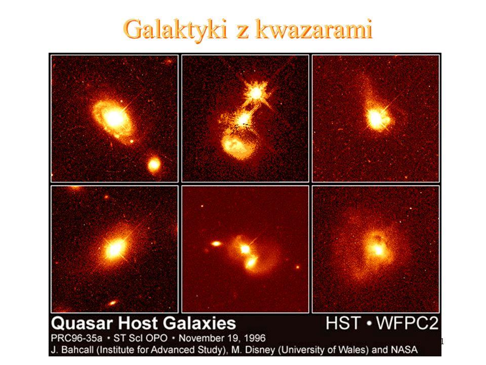 21 Galaktyki z kwazarami