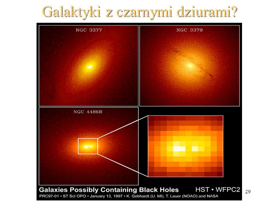 29 Galaktyki z czarnymi dziurami?