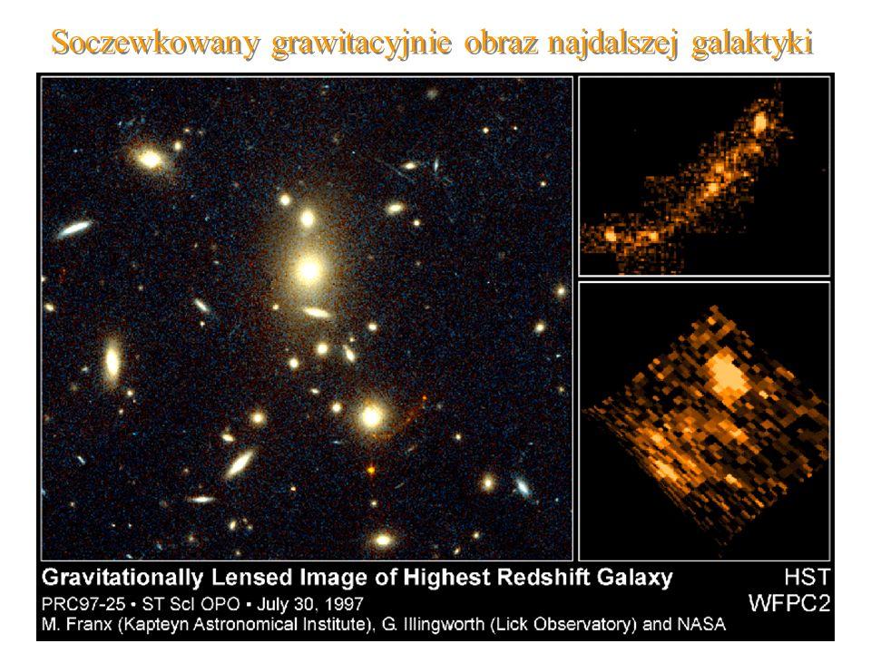 31 Soczewkowany grawitacyjnie obraz najdalszej galaktyki