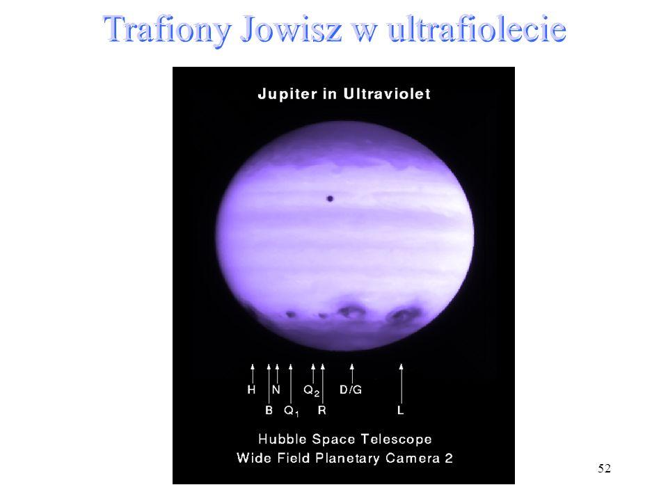 52 Trafiony Jowisz w ultrafiolecie