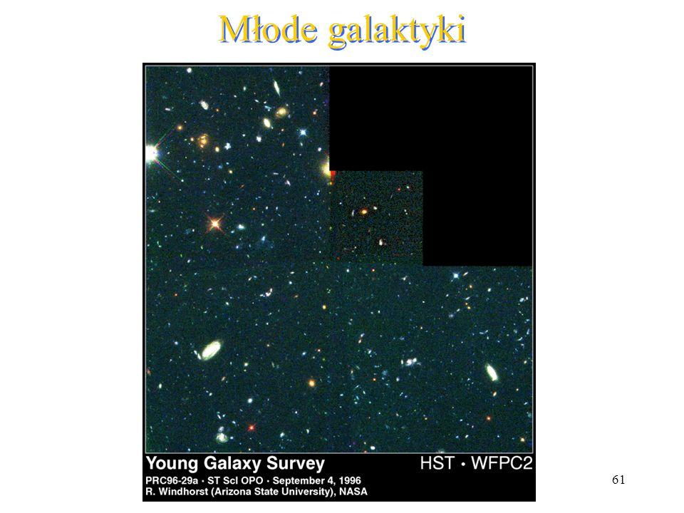 61 Młode galaktyki