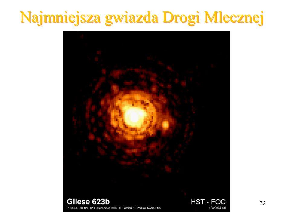 79 Najmniejsza gwiazda Drogi Mlecznej