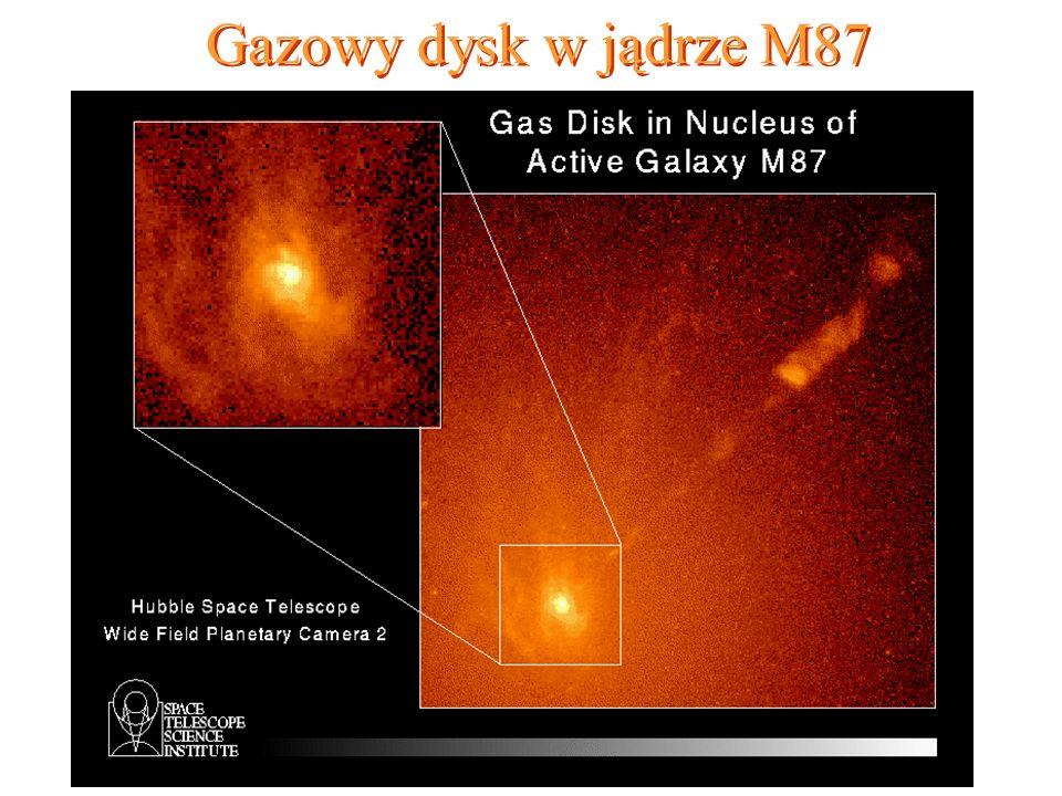 85 Gazowy dysk w jądrze M87