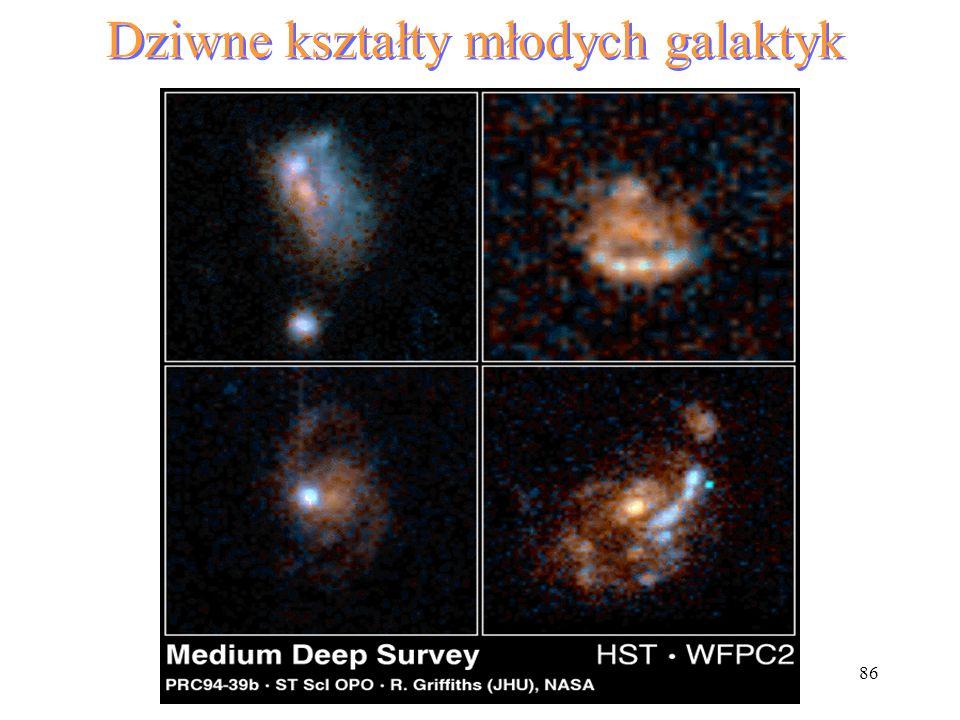 86 Dziwne kształty młodych galaktyk