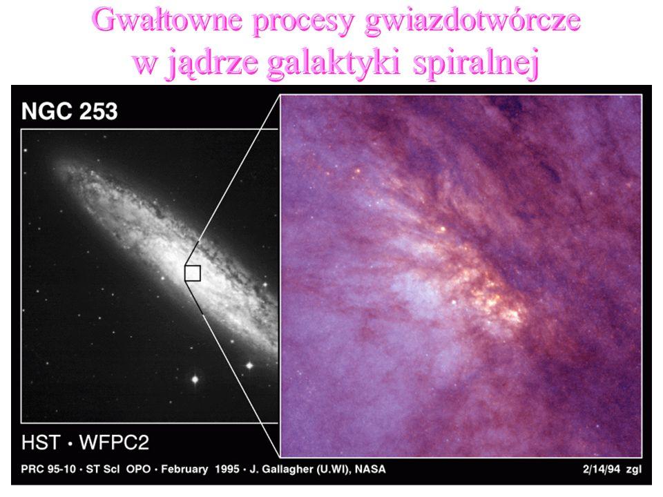 88 Gwałtowne procesy gwiazdotwórcze w jądrze galaktyki spiralnej Gwałtowne procesy gwiazdotwórcze w jądrze galaktyki spiralnej
