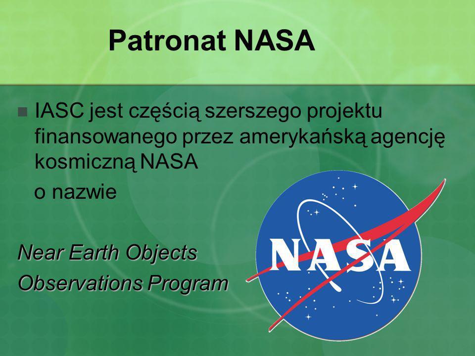 Patronat NASA IASC jest częścią szerszego projektu finansowanego przez amerykańską agencję kosmiczną NASA o nazwie Near Earth Objects Observations Pro