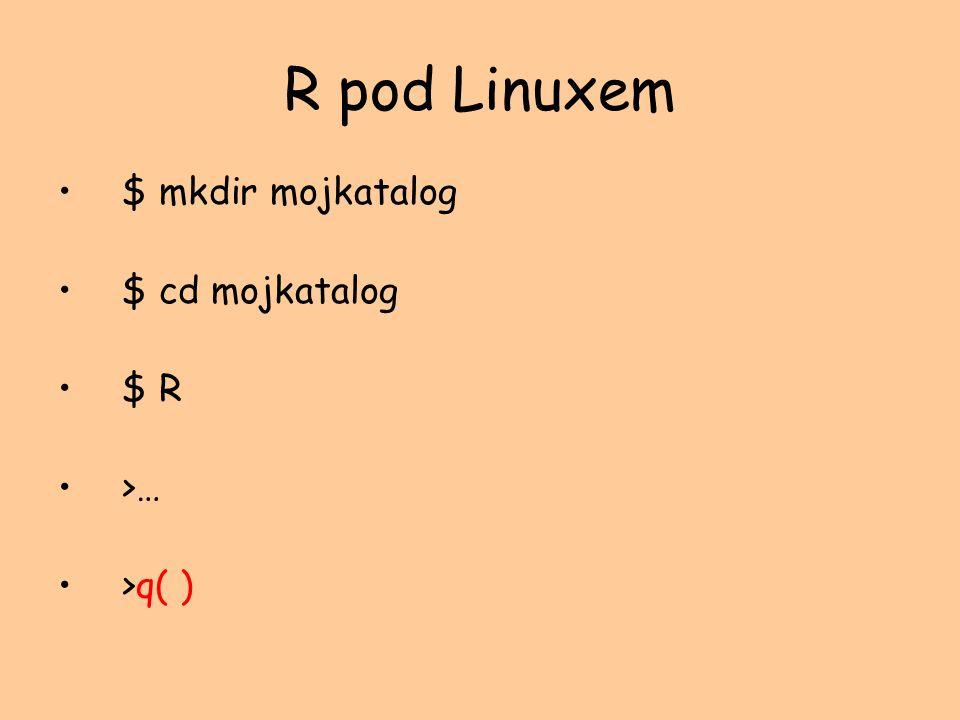 R w Windows Utwórz mojkatalog W skrócie do R ustaw właściwość Rozpocznij w (np. c:\mojkatalog)