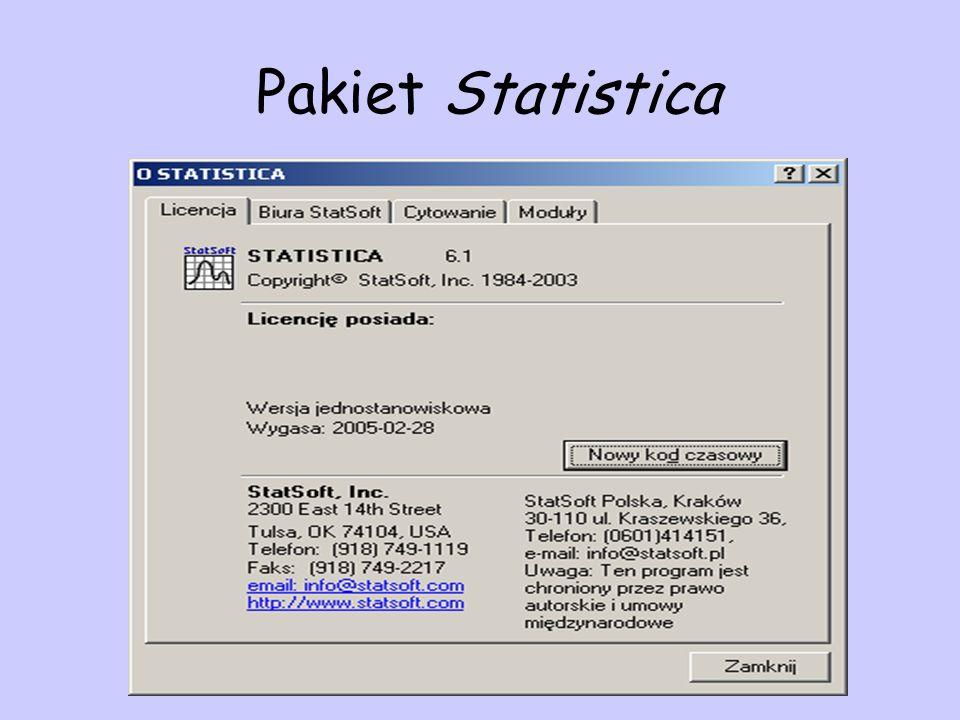 Pakiet Statistica