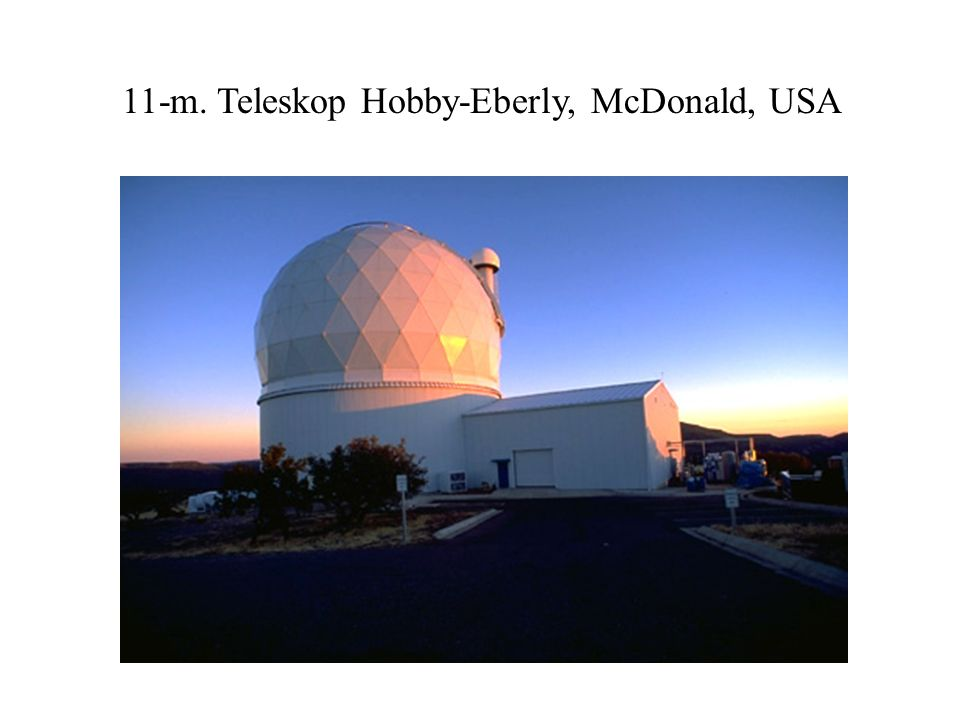 11-m. Teleskop Hobby-Eberly, McDonald, USA