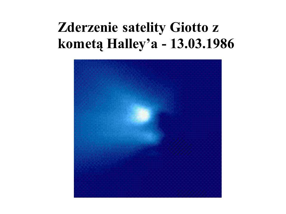 Zderzenie satelity Giotto z kometą Halleya - 13.03.1986