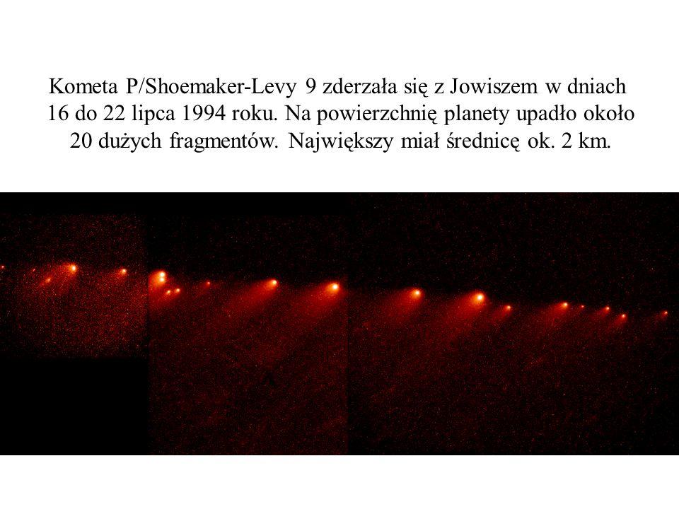 Kometa P/Shoemaker-Levy 9 zderzała się z Jowiszem w dniach 16 do 22 lipca 1994 roku. Na powierzchnię planety upadło około 20 dużych fragmentów. Najwię