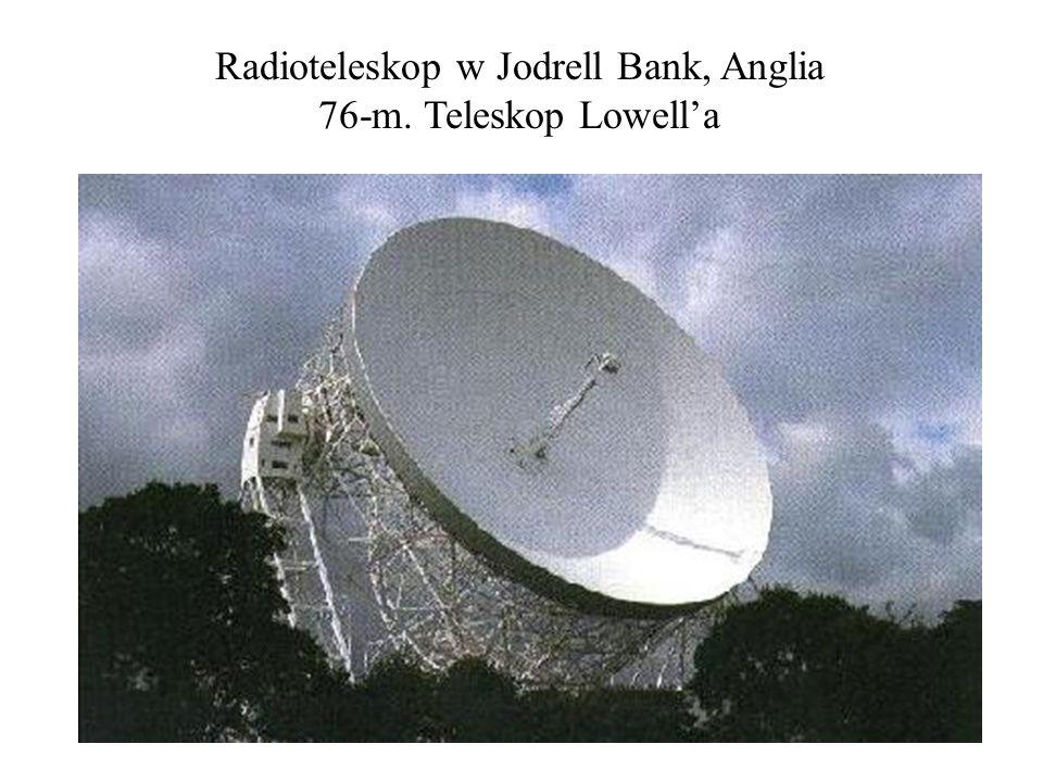 Radioteleskop w Jodrell Bank, Anglia 76-m. Teleskop Lowella