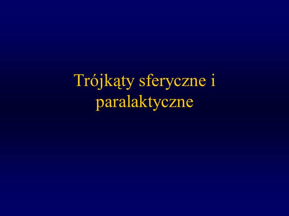 Trójkąty sferyczne i paralaktyczne