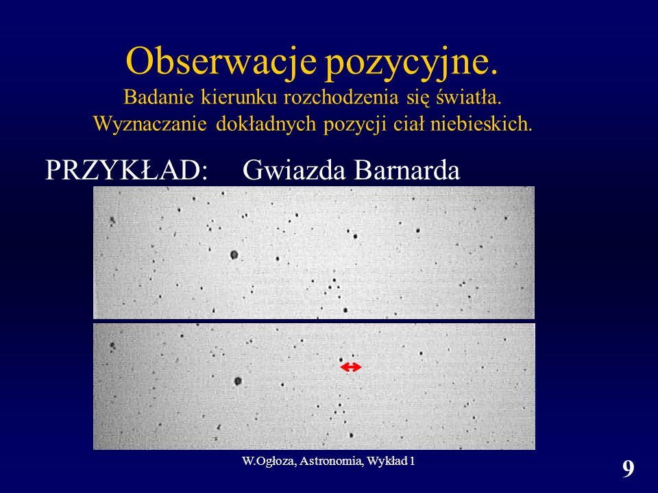 W.Ogłoza, Astronomia, Wykład 1 9 Obserwacje pozycyjne.