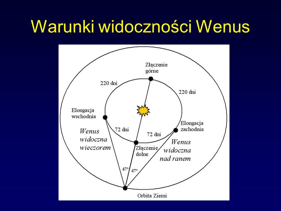 Warunki widoczności Wenus