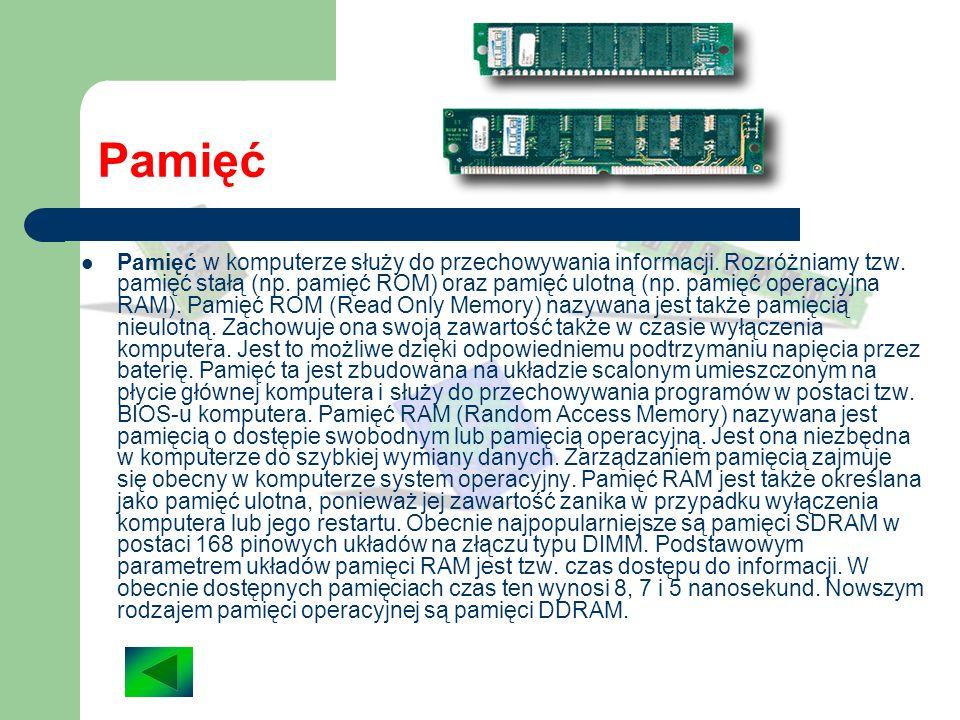 Procesor Procesor to układ scalony zawierający jednostkę centralną komputera (CPU - Central Processing Unit), który jest podstawowym elementem każdego