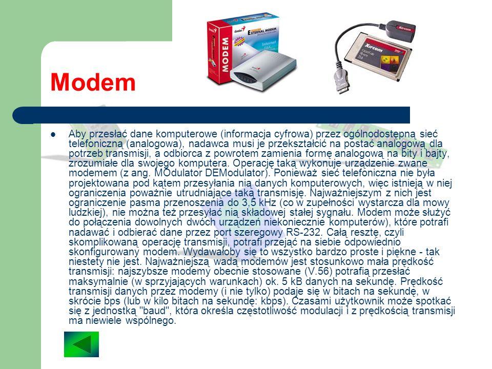 Karta dźwiękowa Karty dźwiękowe służą do konwersji dźwięku (pochodzącego z płyt CD, urządzeń hifi, czy tez mikrofonów) do postaci danych, które może p