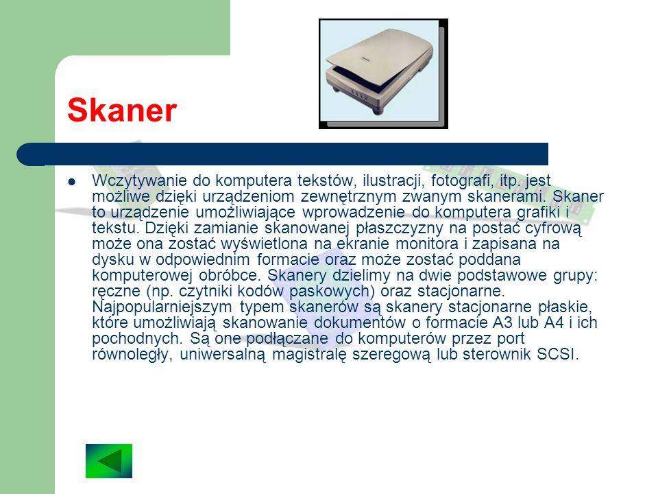 Drukarka Drukarka to urządzenie, które pobiera dane z komputera i drukuje je na papierze lub folii. Trzy najpopularniejsze typy drukarek to: drukarki