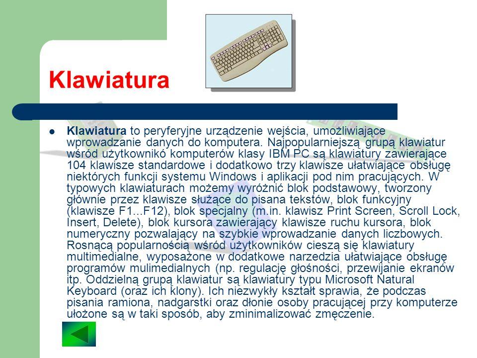 Skaner Wczytywanie do komputera tekstów, ilustracji, fotografi, itp. jest możliwe dzięki urządzeniom zewnętrznym zwanym skanerami. Skaner to urządzeni