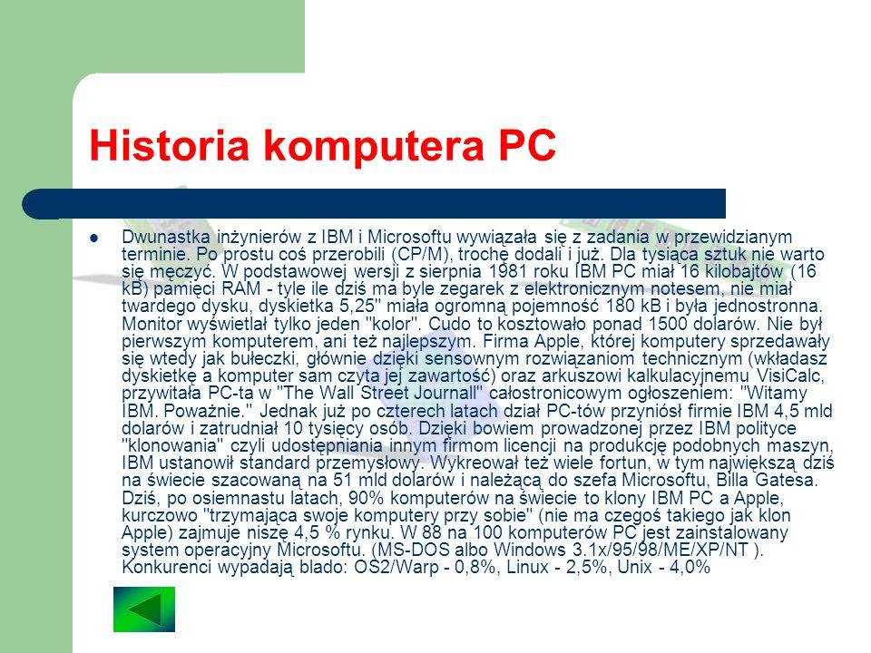 Historia komputera PC W nowojorskim hotelu Astoria 12 sierpnia 1981 roku odbyła się premiera pierwszego komputera osobistego firmy IBM. Mało kto wówcz