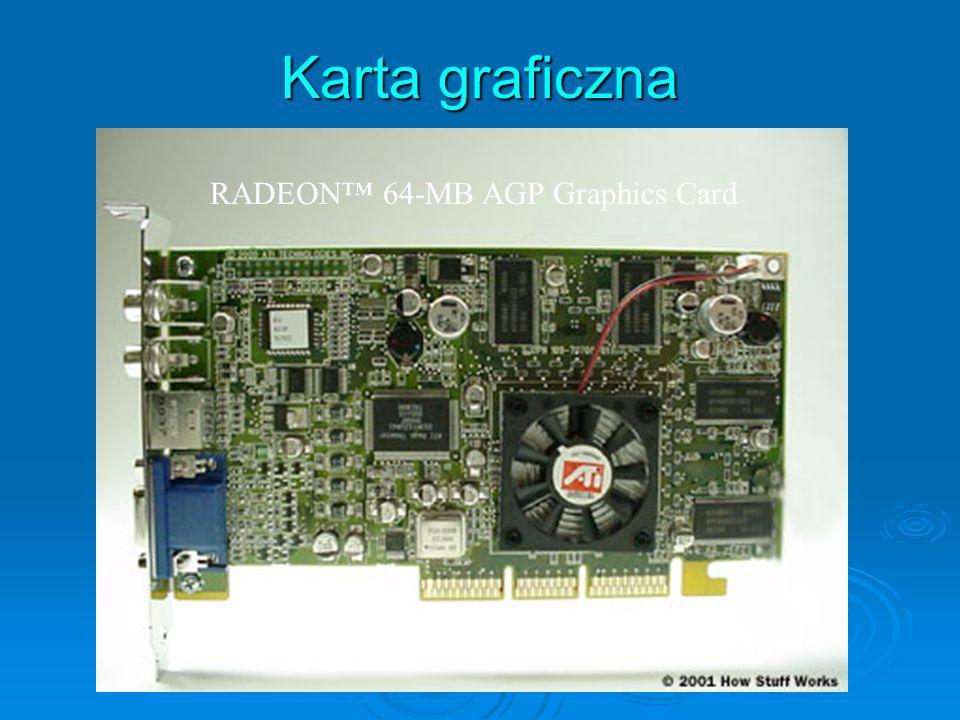 Karta graficzna RADEON 64-MB AGP Graphics Card