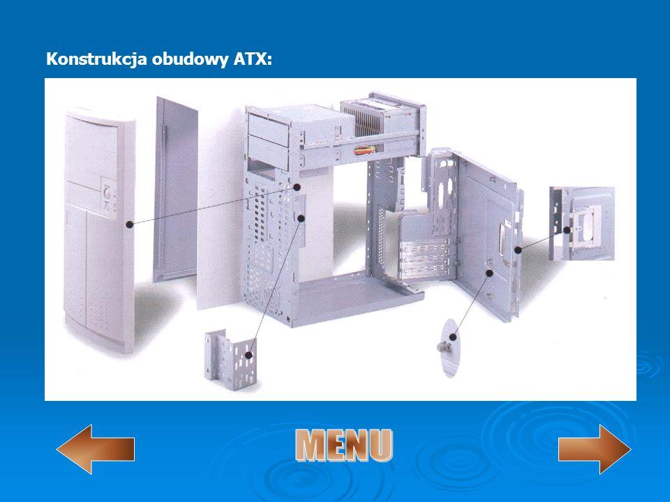 Konstrukcja obudowy ATX: