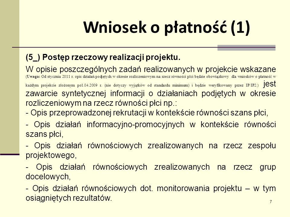 7 (5_) Postęp rzeczowy realizacji projektu.