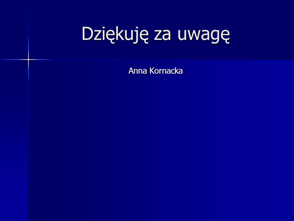 Dziękuję za uwagę Anna Kornacka
