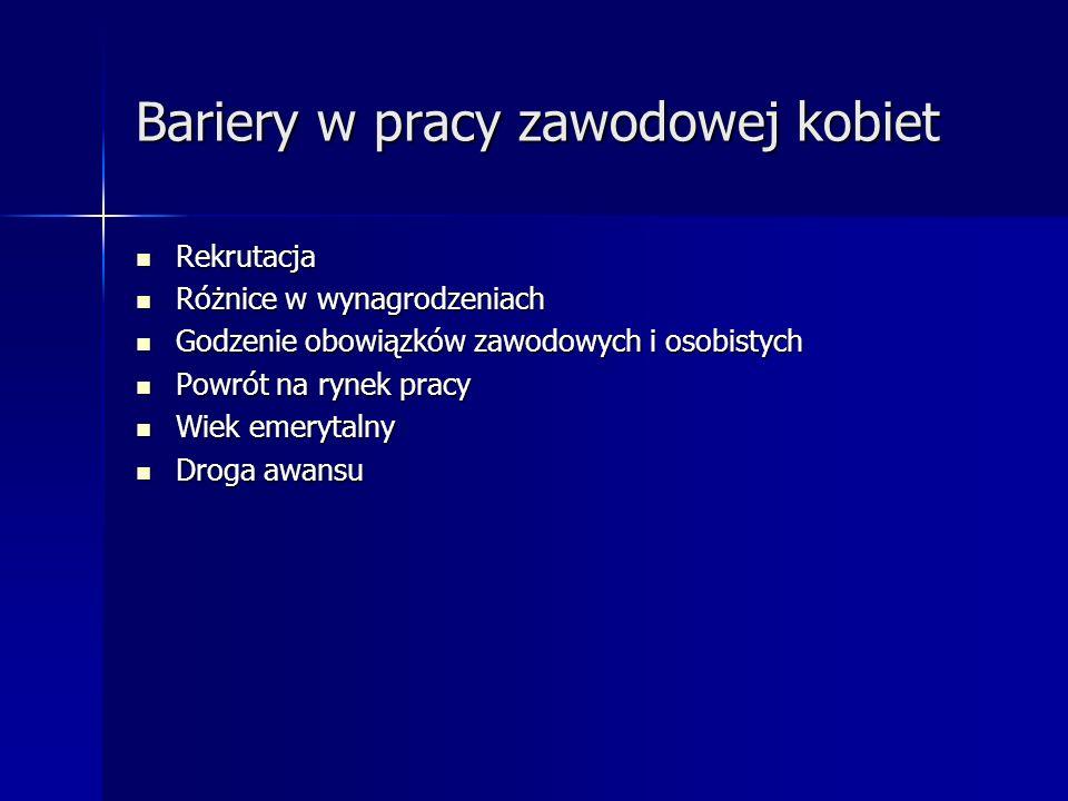 Statystyka Wśród ogólnej liczy zatrudnionych w Polsce kobiety stanowią 46%, z czego w sektorze prywatnym 41% i publicznym 60% 17.