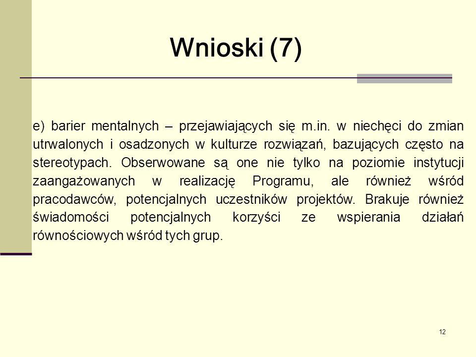 12 e) barier mentalnych – przejawiających się m.in.