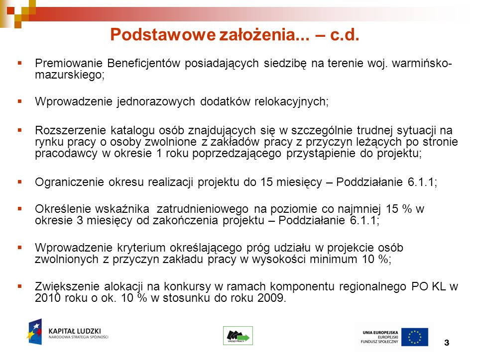 14 Podział środków w Działaniu 6.2 PO KL dla konkursów ogłaszanych w 2010 r.
