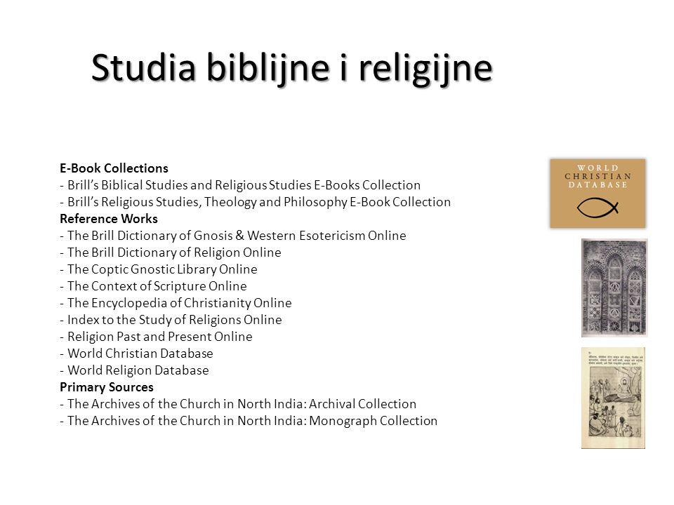 Studia biblijne i religijne Studia biblijne i religijne Religion Past and Present Online Religion Past and Present (RPP) Online to wersja online zaktualizowanego tłumaczenia na j.